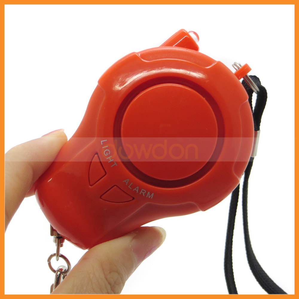 140DB Aloud Personal Safe Guard Personal Alarm with LED Keychain Belt