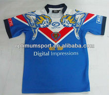 Wholesale Men's Full Sublimated Rugby Jersey without color nor logos limit at a Cheap Price