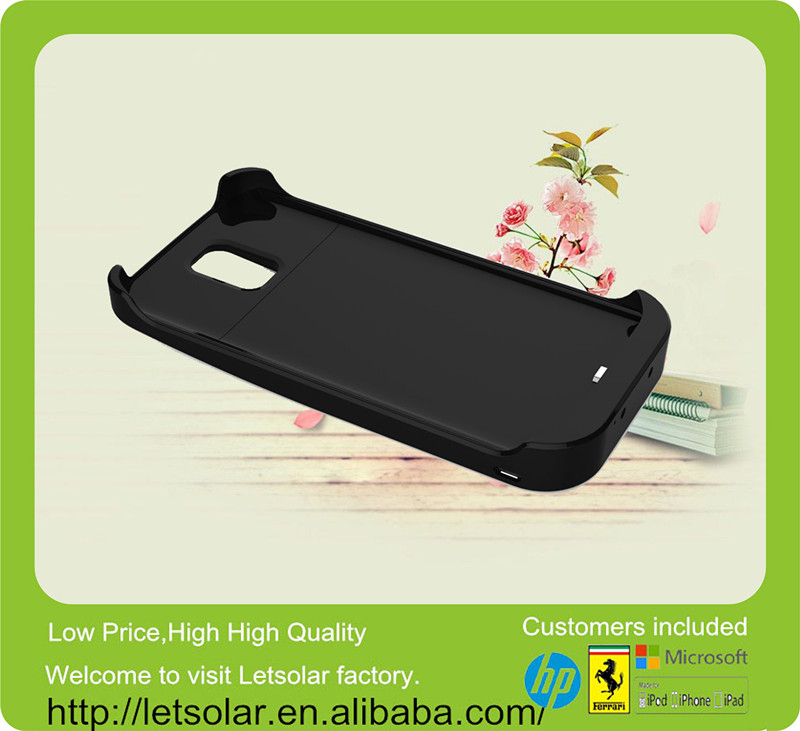 China wholesale promotion gift 4000mAh solar mobile phone charger case for Samsung Galaxy S5