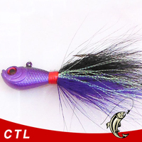 wholesale jig fishing lure Bucktail Hair Jigs with hook for fishing