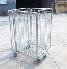 cargo storage supermarket promotion cage with zinc plated