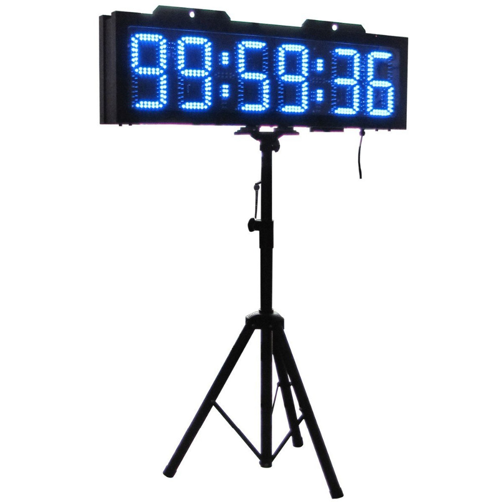 "8"" 6 Digits Double Sided LED Race Timing Clock Countdown timer"