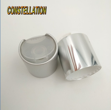 China supply newest design high quality 24mm28mm aluminum and plastic disc top press cap for body lotion empty bottles
