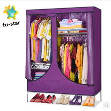 PN bedroom wardrobe with shoe rack DIY assemble storage steel modern bedroom easy assemble wardrobe closet furniture