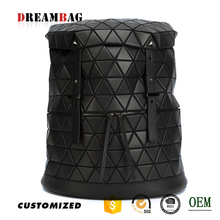 Guangzhou OEM black triangle splicing personalized backpacks