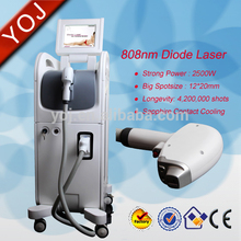 1-10Hz high 12*20mm spot size 808 laser hair removal permanent