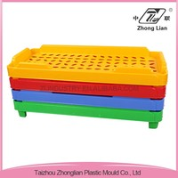 Professional company plastic kindergarten furniture single cot bed size