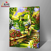 2016 flower wall pictures modern artwork DIY painting by number