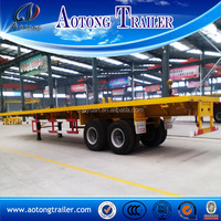 China supplier 2 axle 3 axle skeleton semi trailer container chassis, skeletal truck trailer