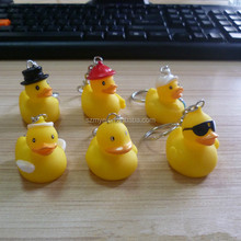 Led yellow duck external key ring chip external flashing Chain led lamp light