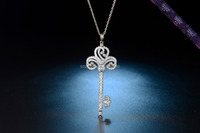SN0036-Silver Key Necklace High Version Pendant Silver Quality Jewelry
