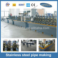 BG60 High precision metal pipe forming machine ERW straight seam tube making production line or pipe mill