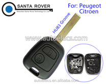 For Peugeot 307 Citroen C5 Remote Control Key Case 2 Button HU83 Blade