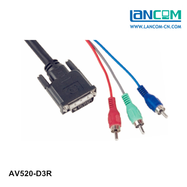 Factory Price DVI 24+5 Pin to 3RCA CABLE male to male Optional Meters