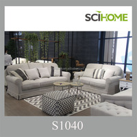american design sofa set with tufted button and linen fabric sofa