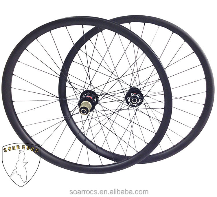 650B 27.5er mountain bike wheels full carbon fiber T800 35mm width clincher hookeless for all mountain/down hill bike 27.5er