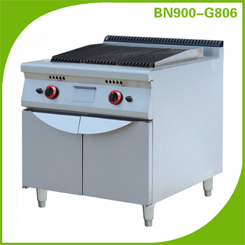 Commercial kitchen equipment combination gas Lava Rock Grill BN900-G806