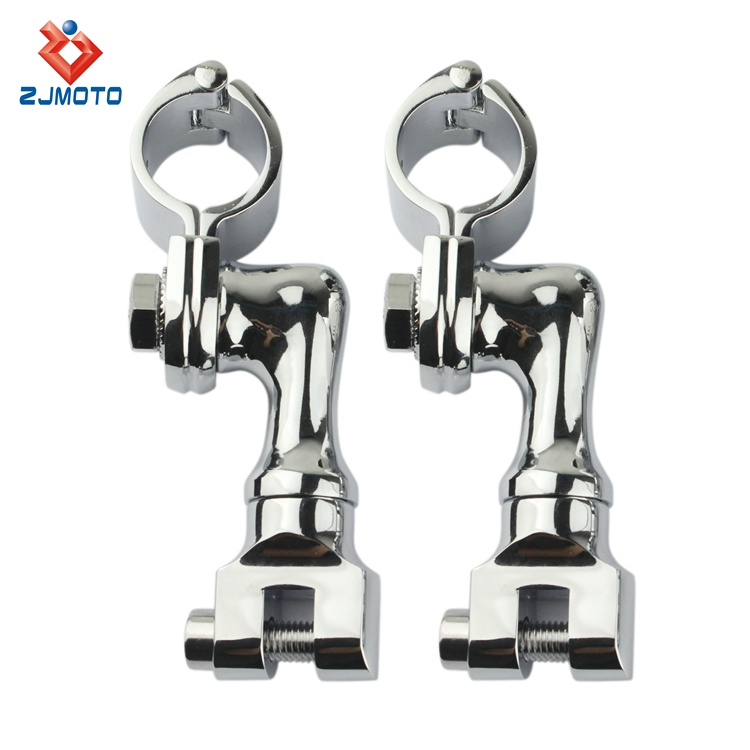 "ZJMOTO Motorcycle footpeg Engine Guard Footpeg Clamps Kit For 1 1/4"" (32mm) Engine Guard / Tubing"