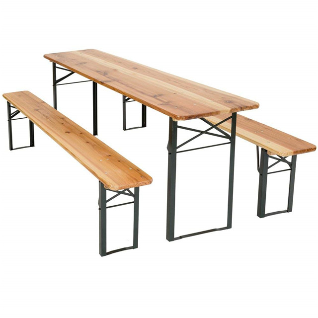 German Foldable Wooden Beer <strong>Table</strong> And Bench Set