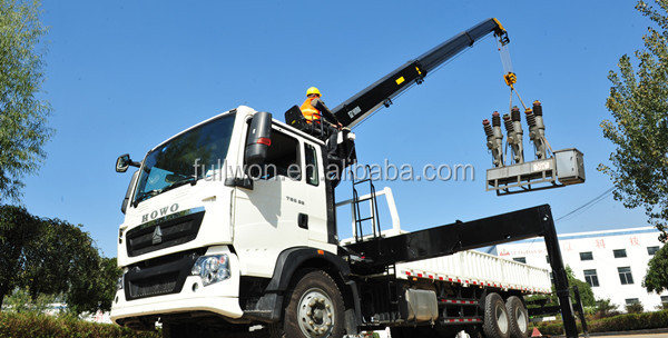 Promotion hydraulic 5 ton truck mounted crane sizes