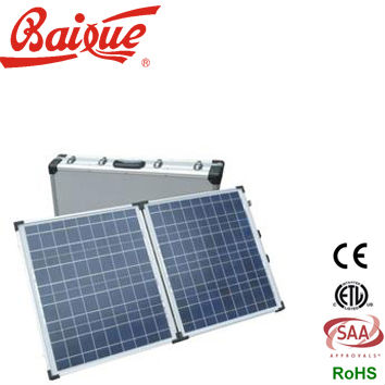 BAIXUE HOT SALE High-quality PORTABLE Two-Double Solar Panel 12v/24v BX80P,CE,ETL certificated