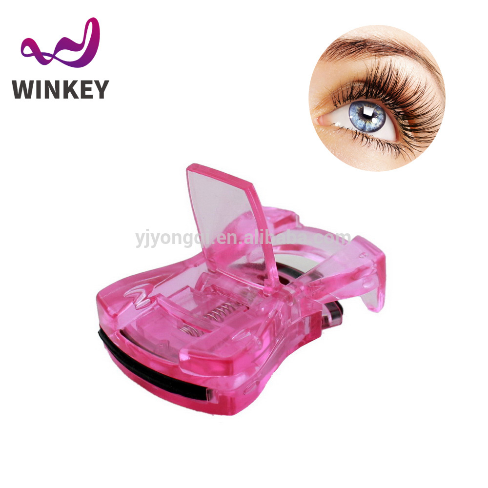 High Quality beautiful mini colorful automatic transprent plastic Eyelash Curler