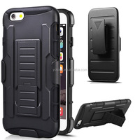 PC TPU Hard Heavy Duty Armor Phone Case With Combo Belt Clip Hybrid Armor Case ShockProof Protective Hard Mobile Phone Cover