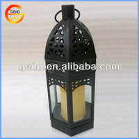 Hot Sale! Black decorative metal candle lantern