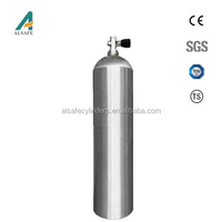 special gas used portable seamless aluminium 6061 cylinder