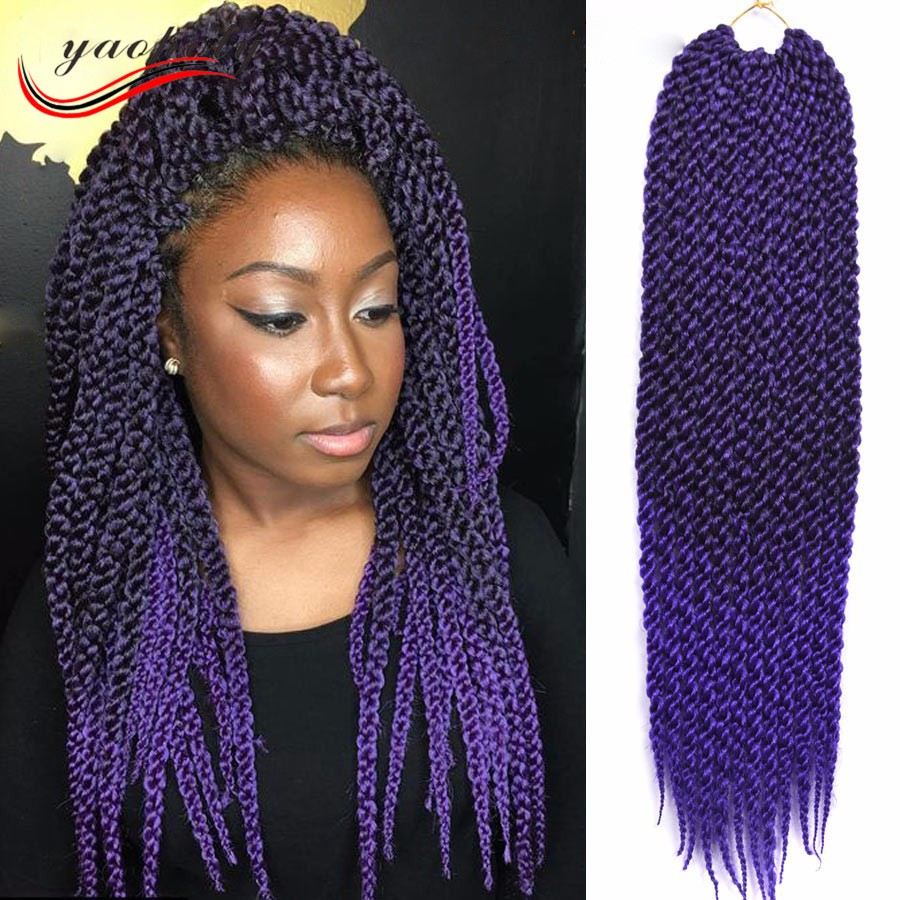 China Suppliers 24inch Solid Single Color Crochet Hair Extension
