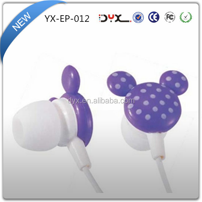OEM fancy silicone earphone rubber cover in-ear earbuds with best price for girls
