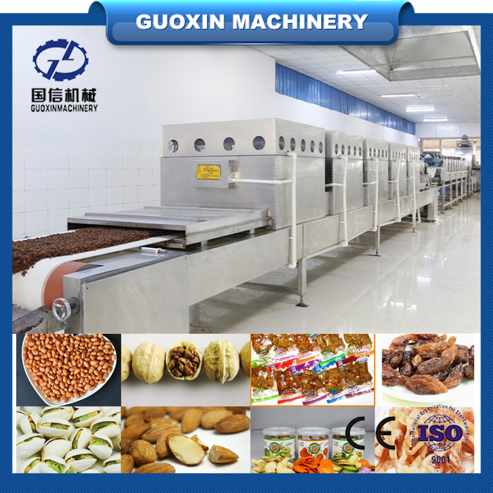 New design conveyor type peanut roaster/nuts baking machine/peanut kernel microwave dryer