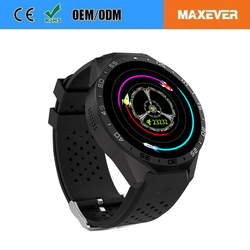 Android 5.1 MTK6580 Quad-Core Wifi Sim Card WCDMA 3G NetWork Heart Rate 2.0MP KW88 Fitness watch