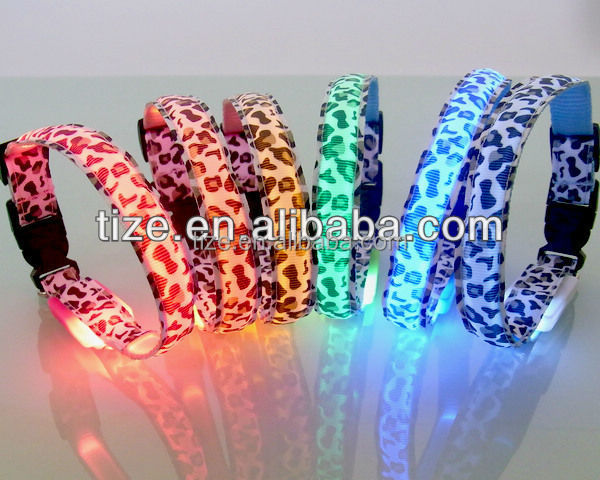 wholesale led dog collars TZ-PET3600 paracord dog collar flashing pet collar
