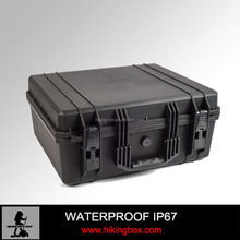 IP67 Hard PP plastic carrying case/ waterproof&shockproof storage case with precut foam for equipment HIKINGBOX HTC020-2