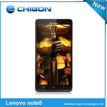 Original Lenovo Note 8 4G FDD LTE MTK6752 Octa Core 1.7GHz Mobile Phone Android 4.4.4 1280x720 HD IPS 6.0'' 2GB+8GB ROM in stock