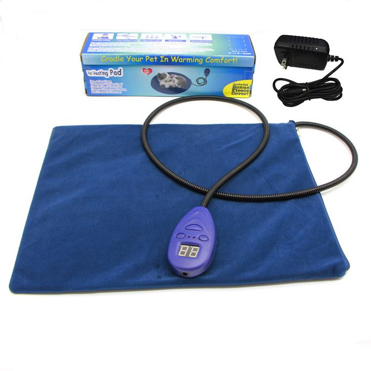 Indoor/Outdoor Heated Pet Pad with Soft Wool Mat, Warming Bed for your Dog, Cat,