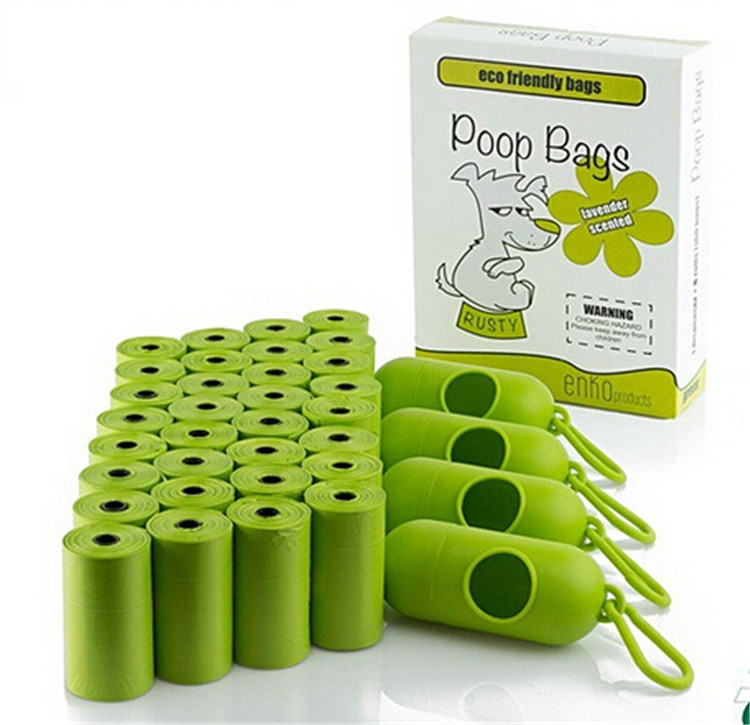 Pet Cleaning Produts Waste Bags Wholesale Biodegradable Dog Poop Bags Custom Printed