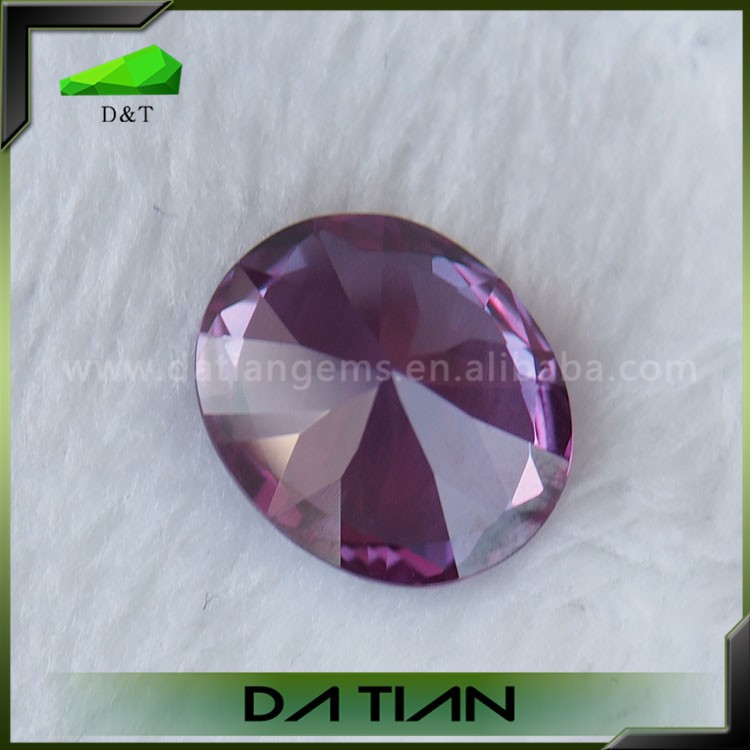 wholesale 46# oval alexandrite synthetic corundum rough