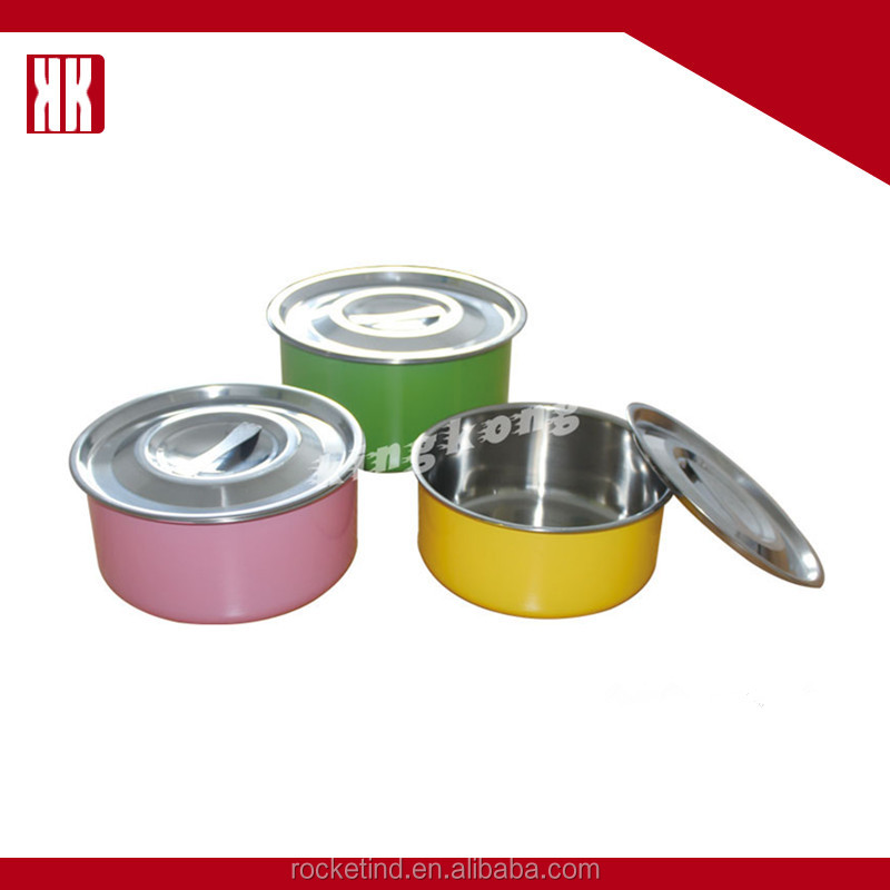 Hot Sale Small Stainless Steel Pots Cheap Price Pot Rice Bowl With Lid