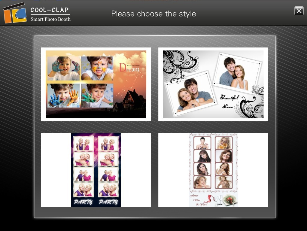 Self-take Photo Cool Clap wedding Accessories Photo Booth Stand For Wedding/Party/Events