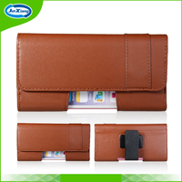 Leather Belt Clip Holster Flip Case Mobile Phone Pouch for Samsung