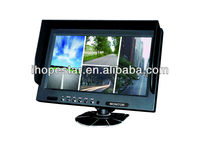 9 inch digital TFT panel lcd Monitor with 4 Video display