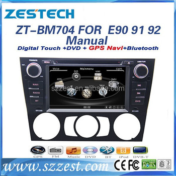 ZESTECH car dvd player for BMW E90 E91 E92 with GPS Radio 3G wifi S100 Support DVR audio