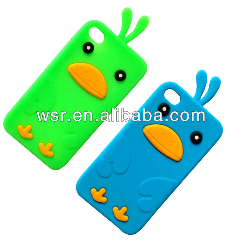 3D cartoon duck silicone protective cover