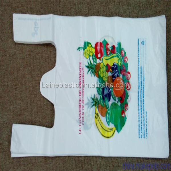 HDPE heavy bearing promotional shopping plastic bags