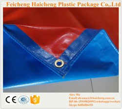 waterproof hdpe canvas tarpaulin cover blue orange