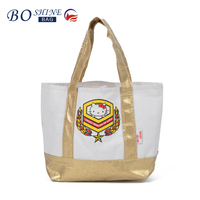 Retail and wholesale women's large capacity beach tote bag portable shopping bag