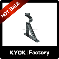 KYOK black series metal curtain single or bracket,new design curtain blacket on hot sale,curtain rod accessories wholesale.