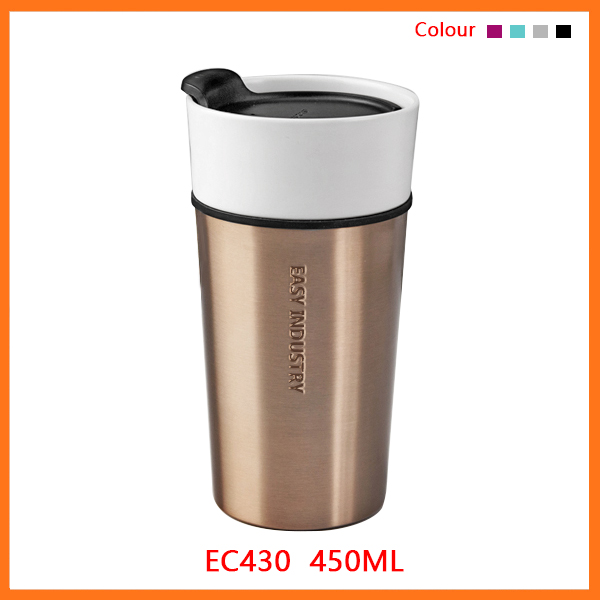 Starbucks double wall thermal insulated coffee travel private label bulk ceramic tumblers/blank porcelain mug
